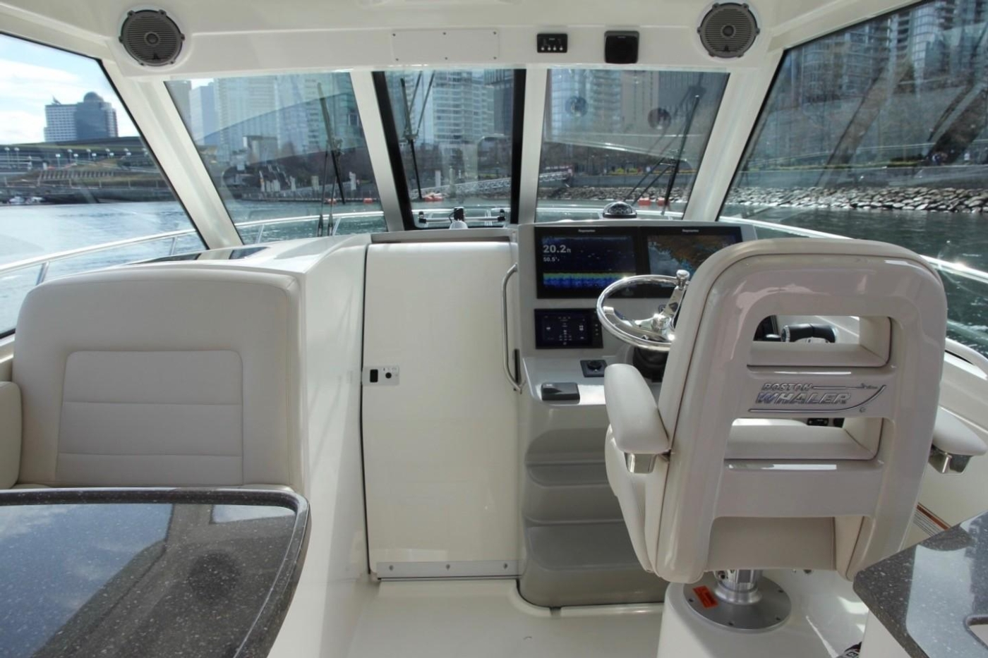 2017 Boston Whaler 345 Conquest, Helm Looking Forward