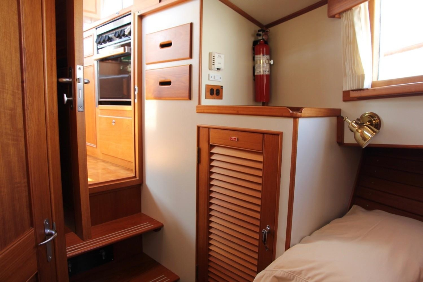 1995 Grand Banks Classic, Forward Cabin Hanging Locker