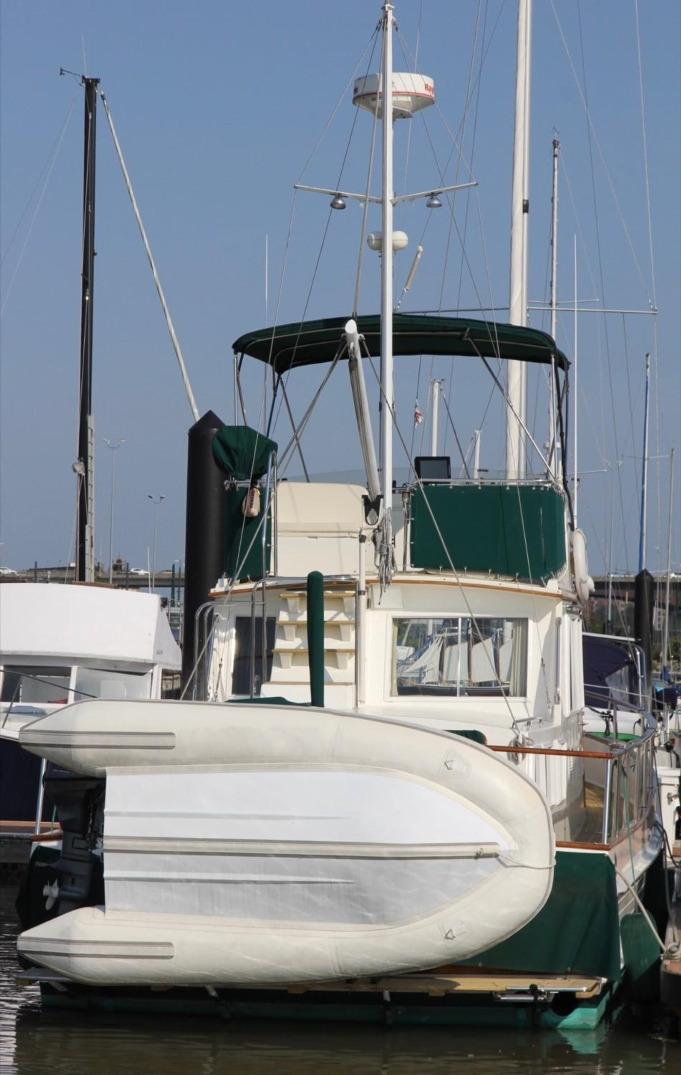 1995 Grand Banks Classic, Aft View