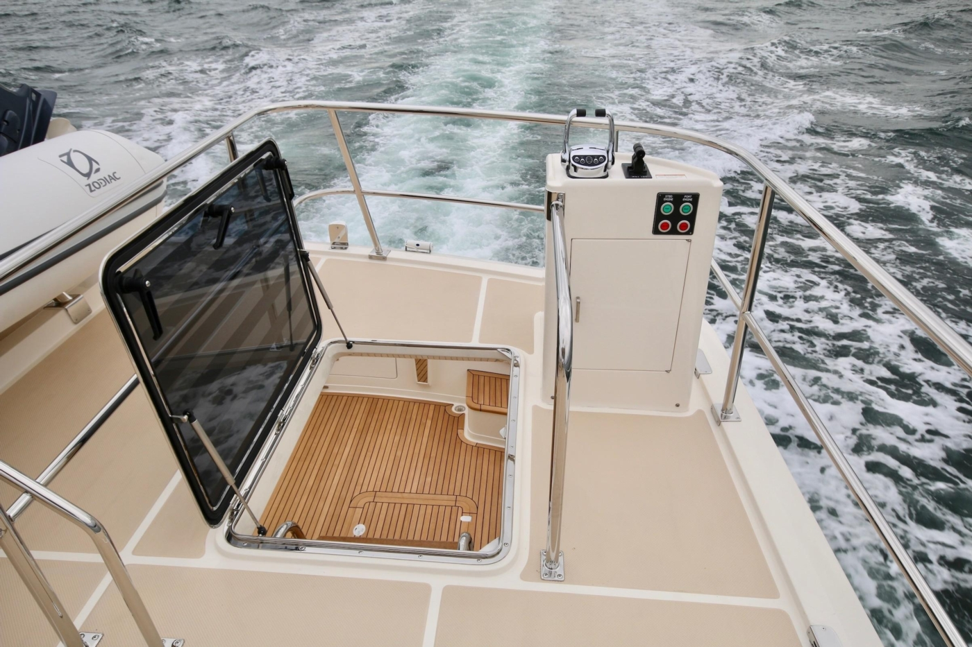 2020 Fleming 65 Pilothouse In Stock, Boat Deck Controls