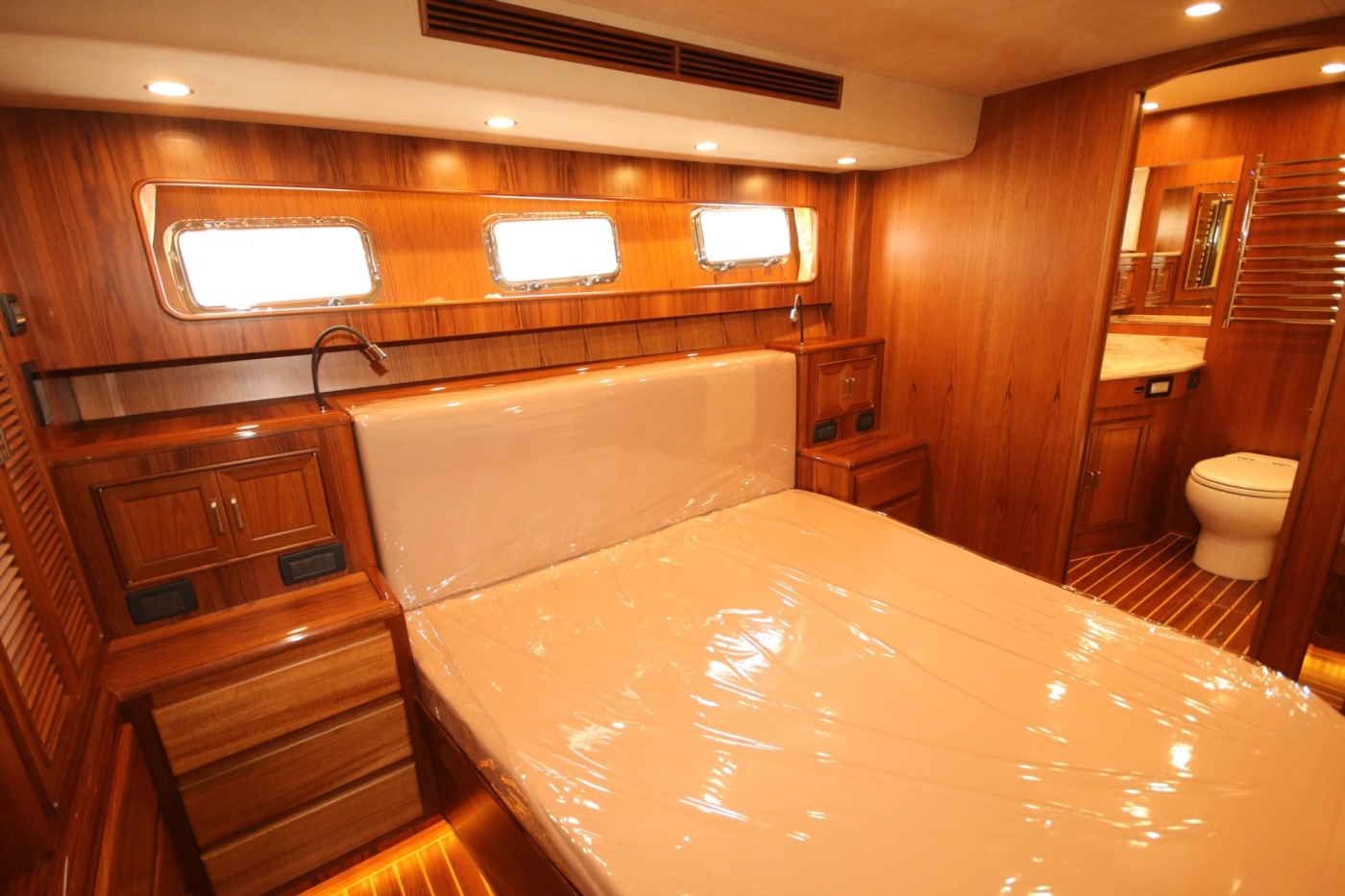 2020 Fleming 65 Pilothouse In Stock, Master Mid Stateroom