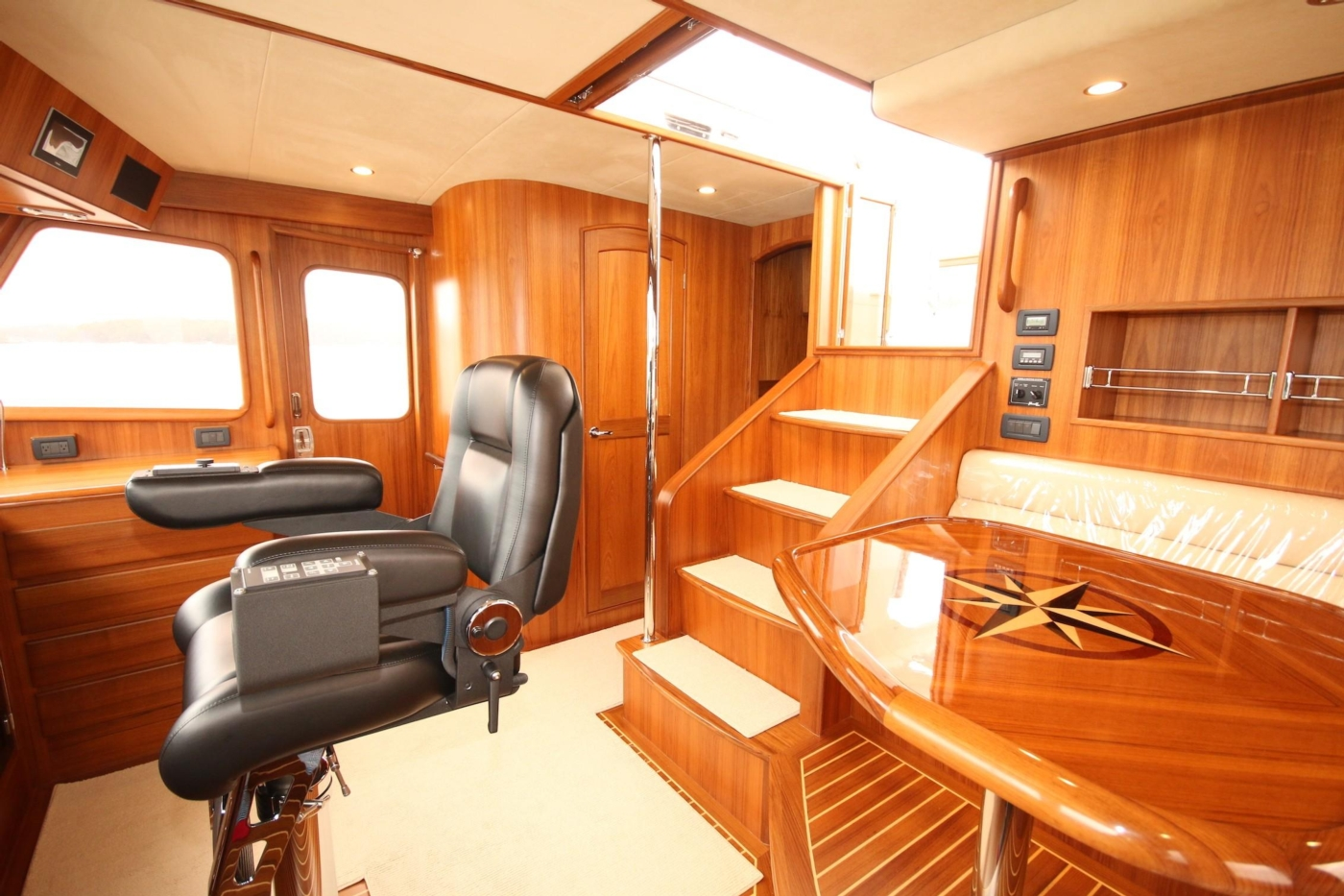 2020 Fleming 65 Pilothouse In Stock, Pilothouse Starboard View