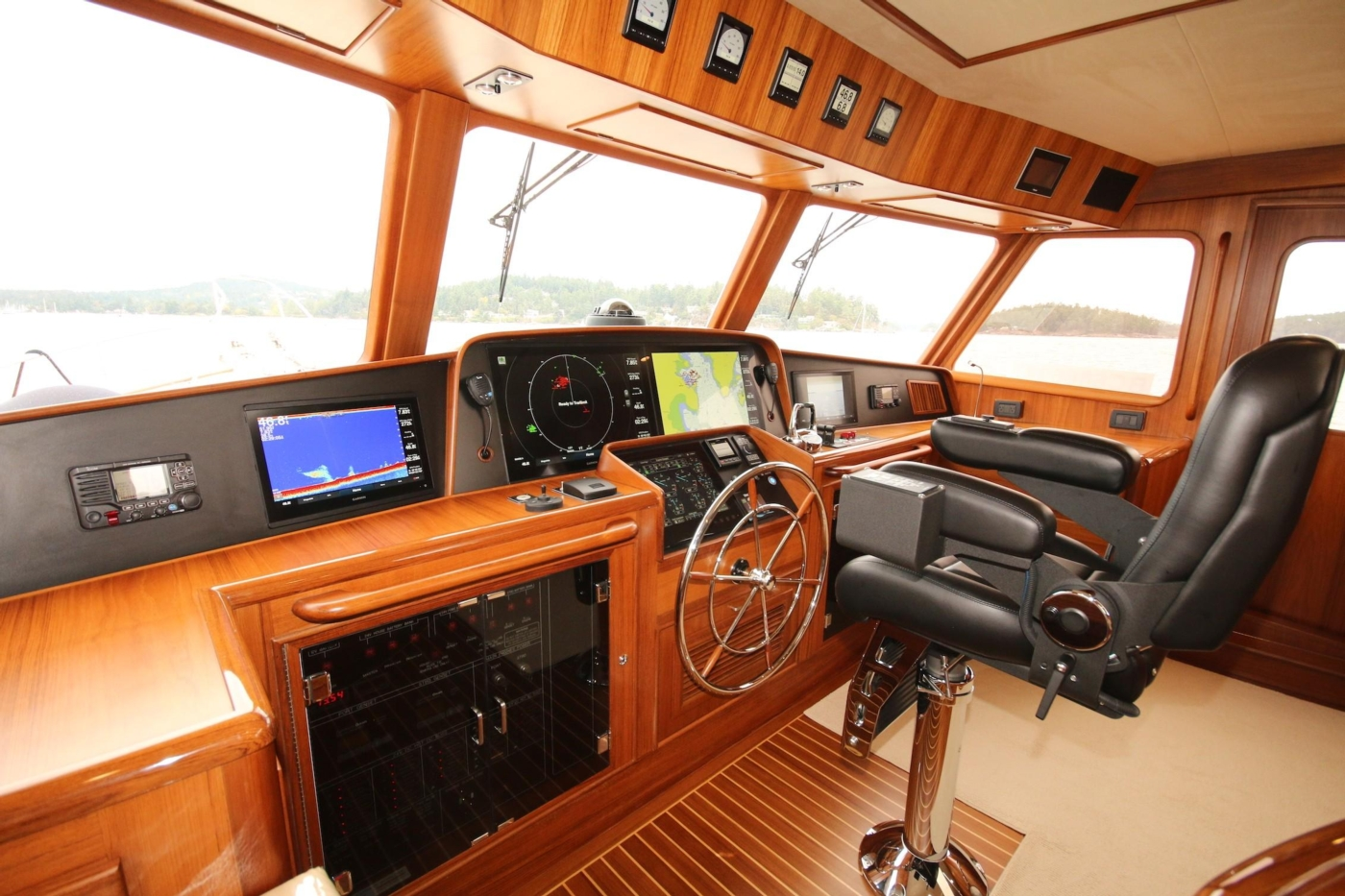 2020 Fleming 65 Pilothouse In Stock, Pilothouse Helm