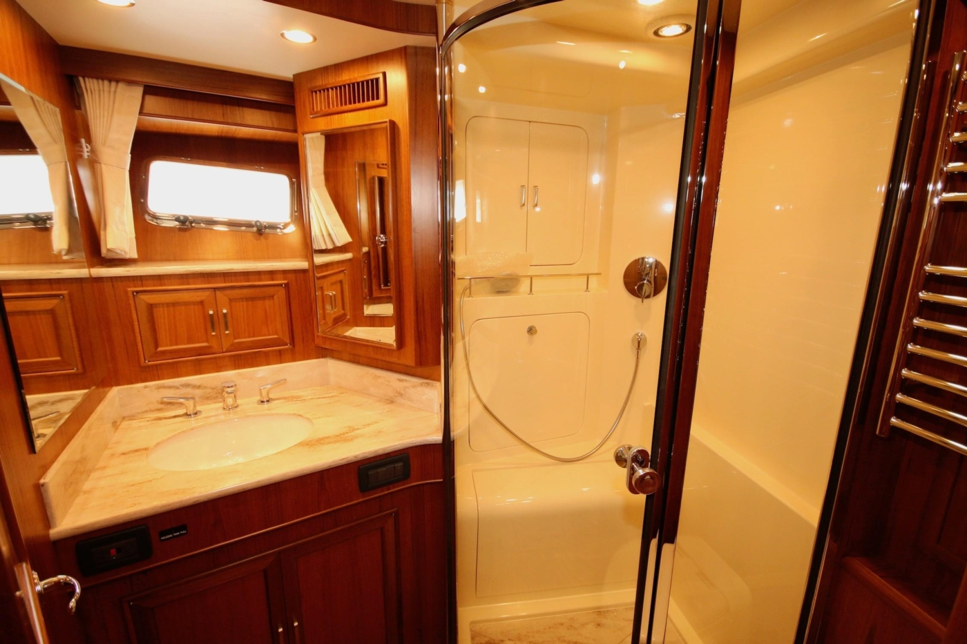 2020 Fleming 65 Pilothouse In Stock, VIP Head & Shower