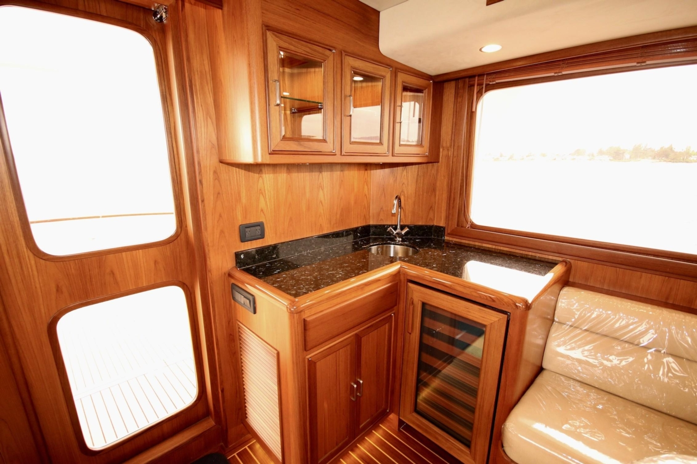 2020 Fleming 65 Pilothouse In Stock, Aft Bar