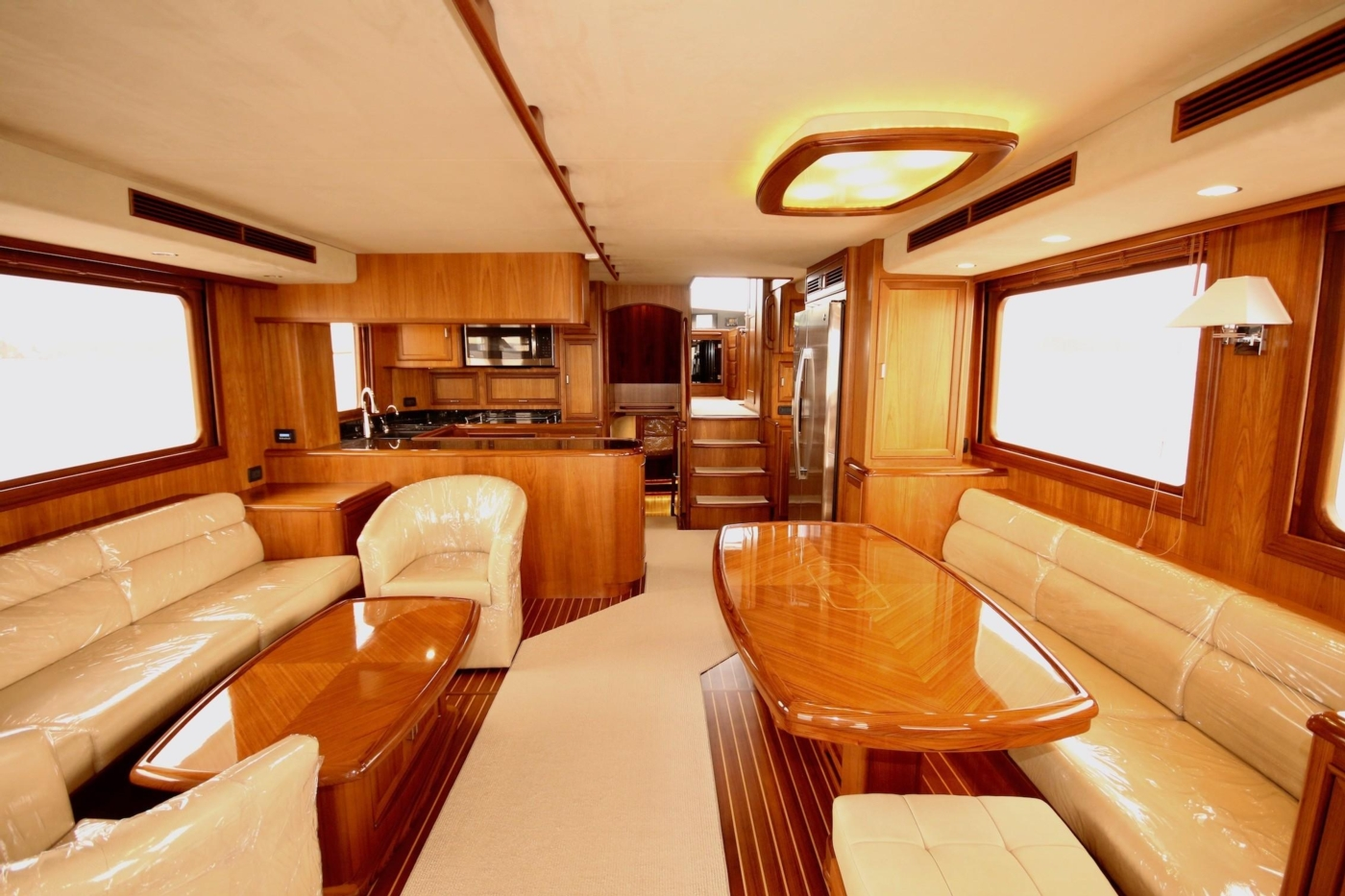 2020 Fleming 65 Pilothouse In Stock, Salon Forward View