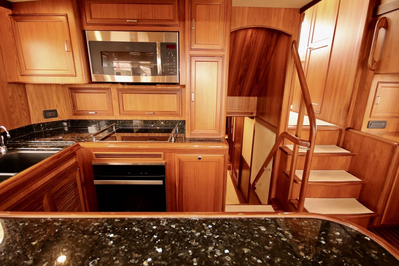2020 Fleming 65 Pilothouse In Stock, Galley