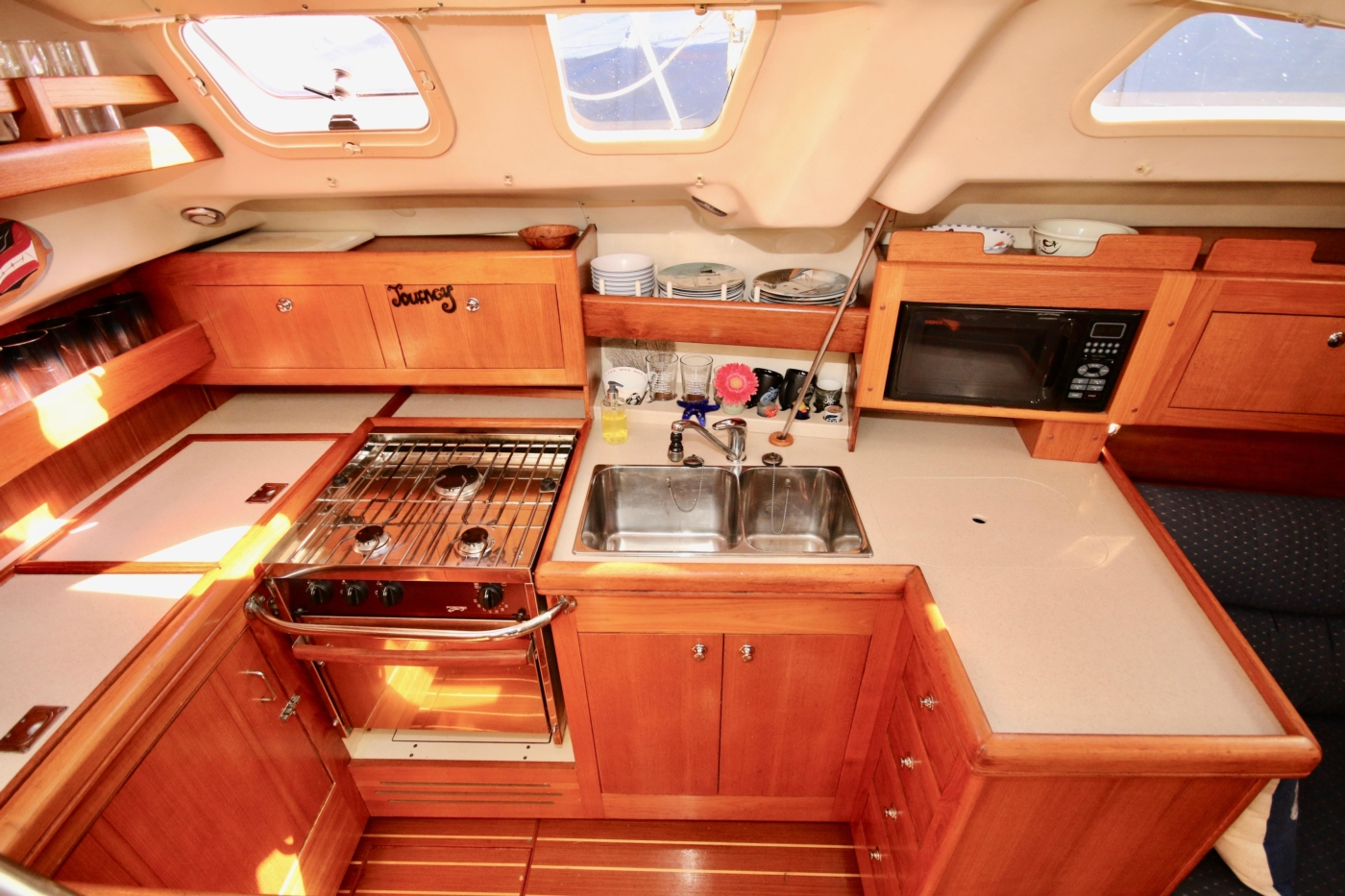 2004 Hunter Passage 420, The galley is a chef's delight
