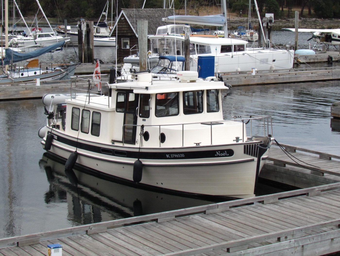 1999 Nordic Tugs 32, At the dock