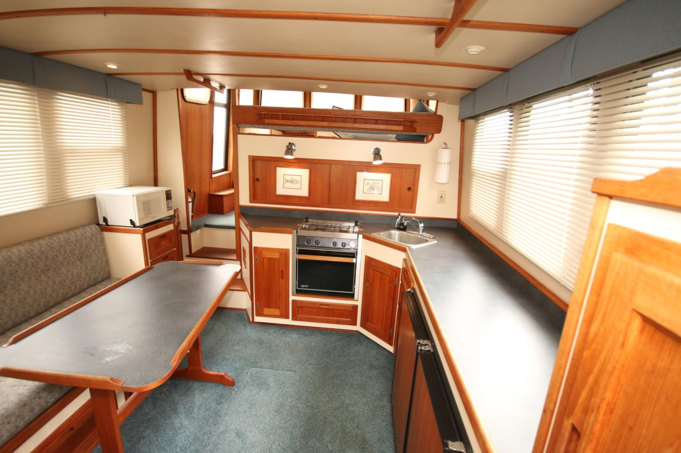 1999 Nordic Tugs 32, View Forward into the Salon /Galley