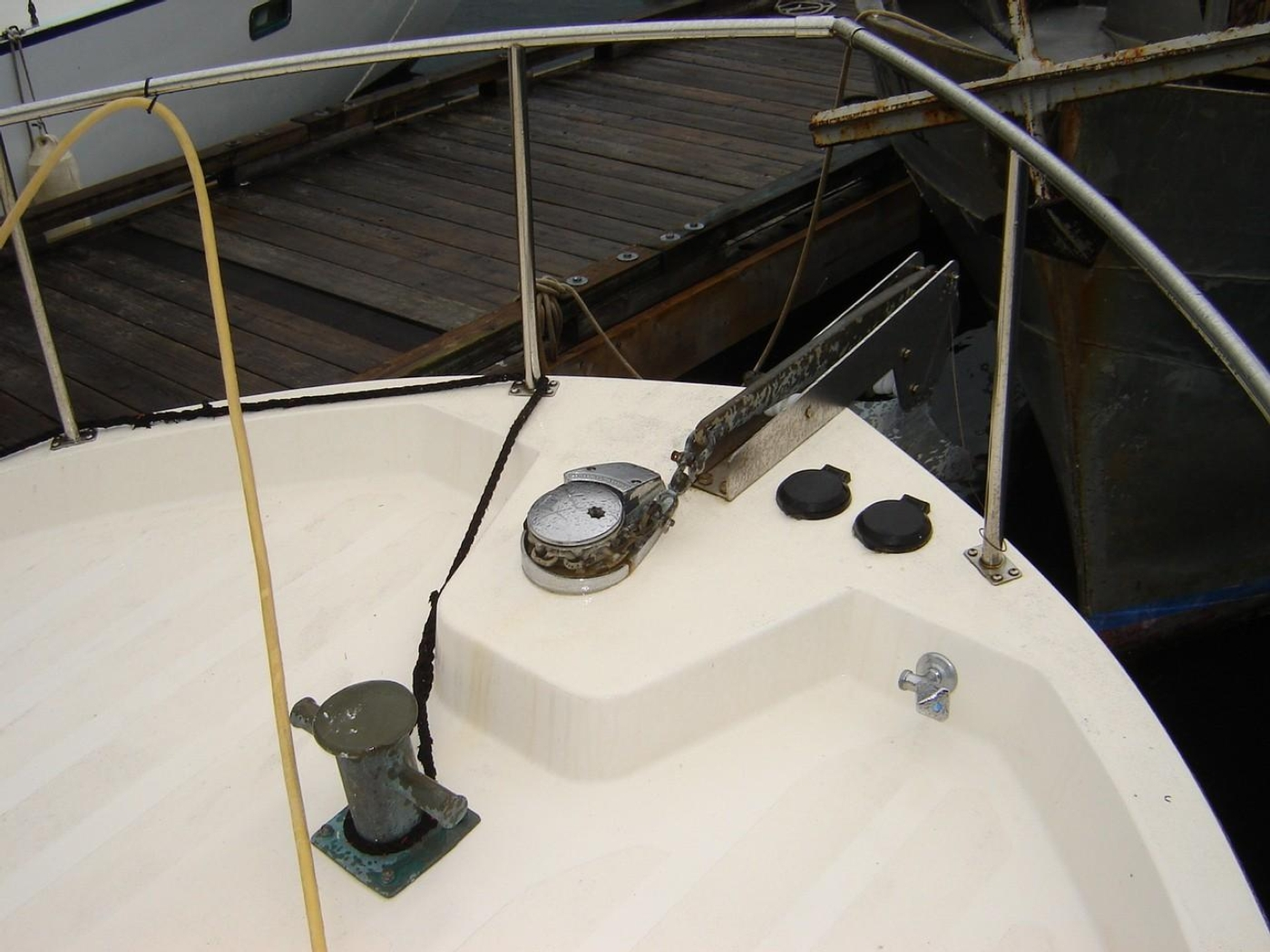 1999 Nordic Tugs 32, Foredeck Windlass & Foot Switches