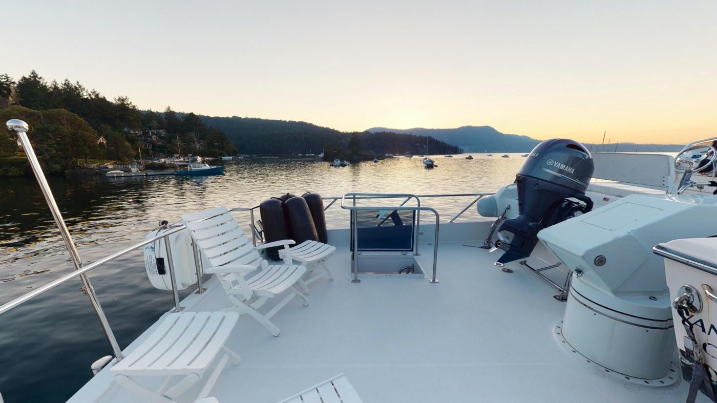 1997 Nordlund Motoryacht, Aft boat deck