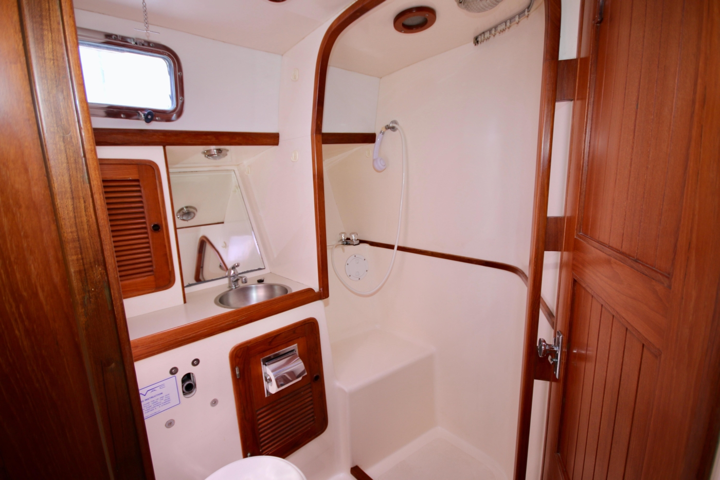 1996 Tanton 45 Offshore, Forward head & shower