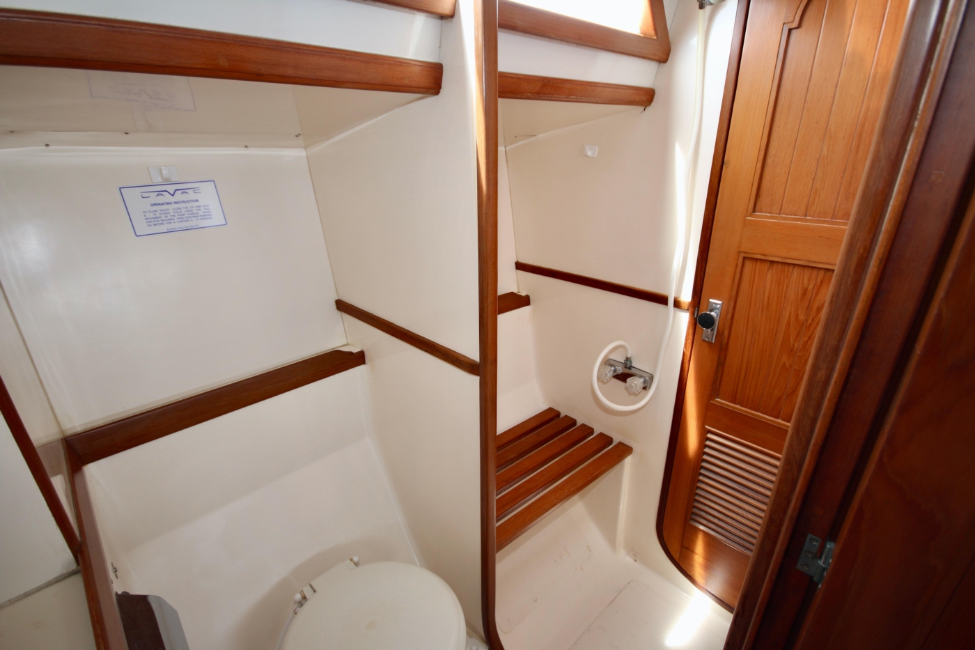 1996 Tanton 45 Offshore, Aft head & shower