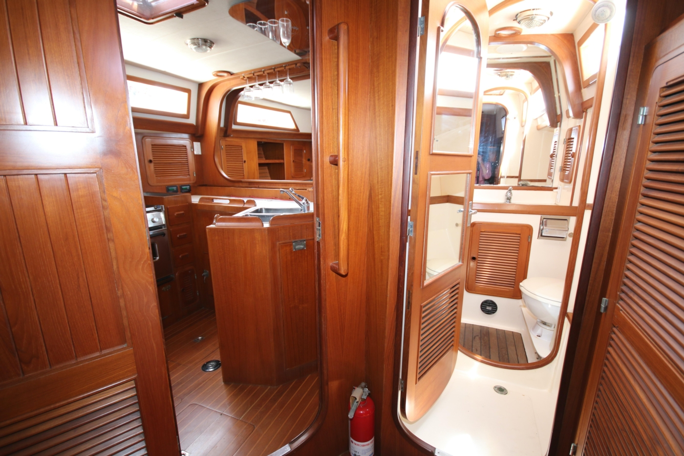 1996 Tanton 45 Offshore, Forward view from aft cabin
