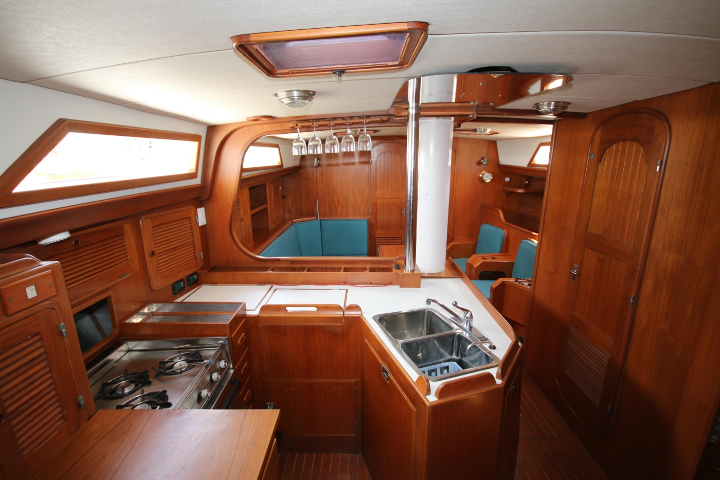 1996 Tanton 45 Offshore, Galley & Salon