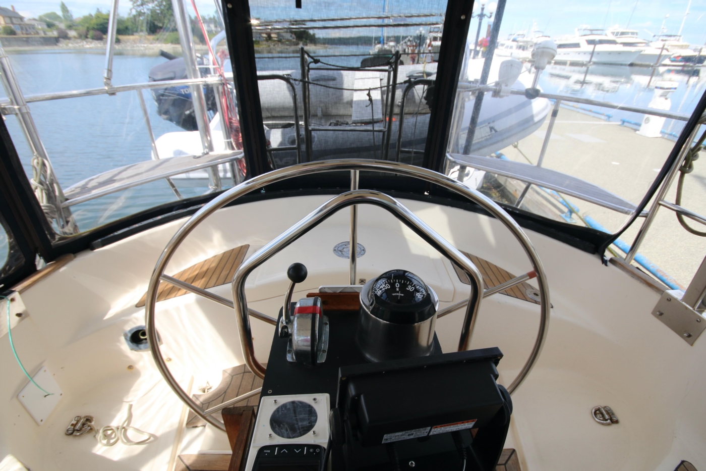 1996 Tanton 45 Offshore, Helm aft view