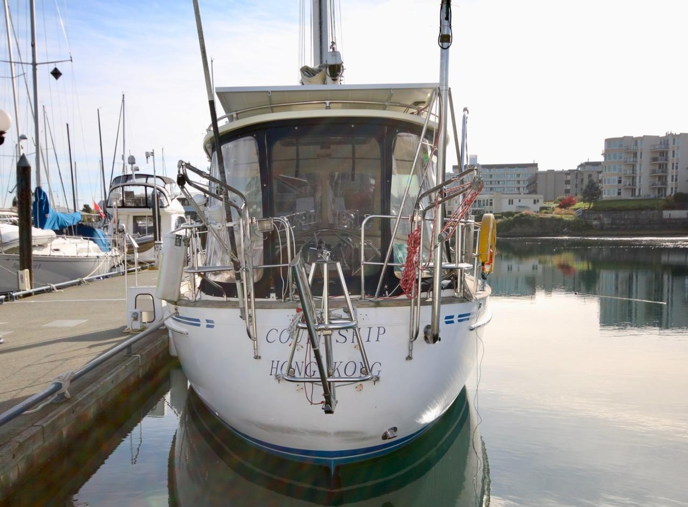 1996 Tanton 45 Offshore, Courtship Transom and Wind Vane
