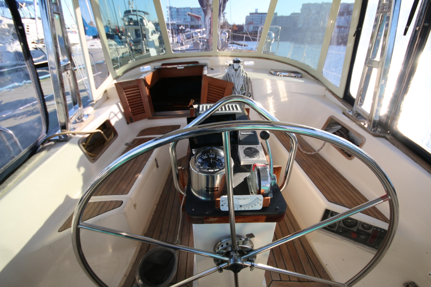 1996 Tanton 45 Offshore, Helm fwd view