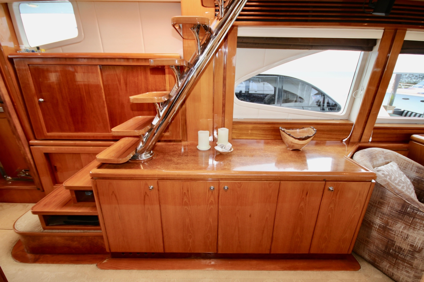 2002 Monte Fino 68, Custom Galley Cabinet to Starboard