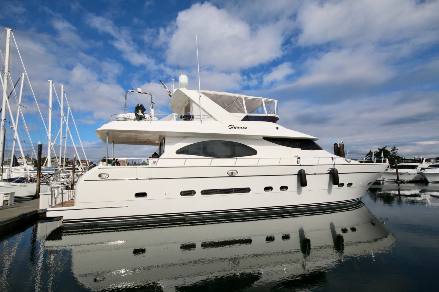 2002 Monte Fino 68, Starboard Side Profile