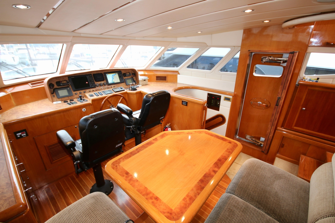 2002 Monte Fino 68, Pilothouse View Forward to Starboard