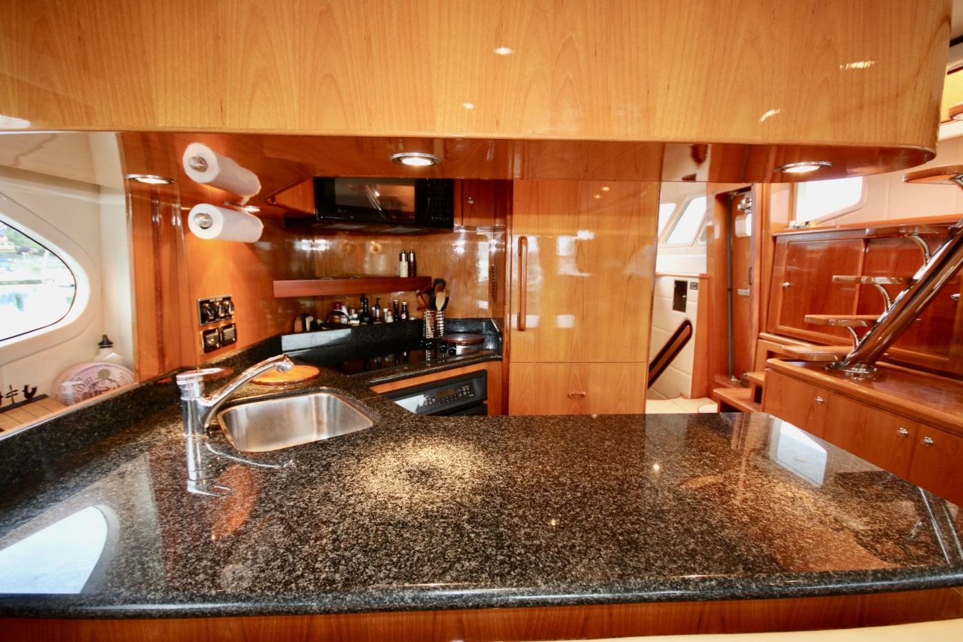 2002 Monte Fino 68, Looking Forward into the Galley