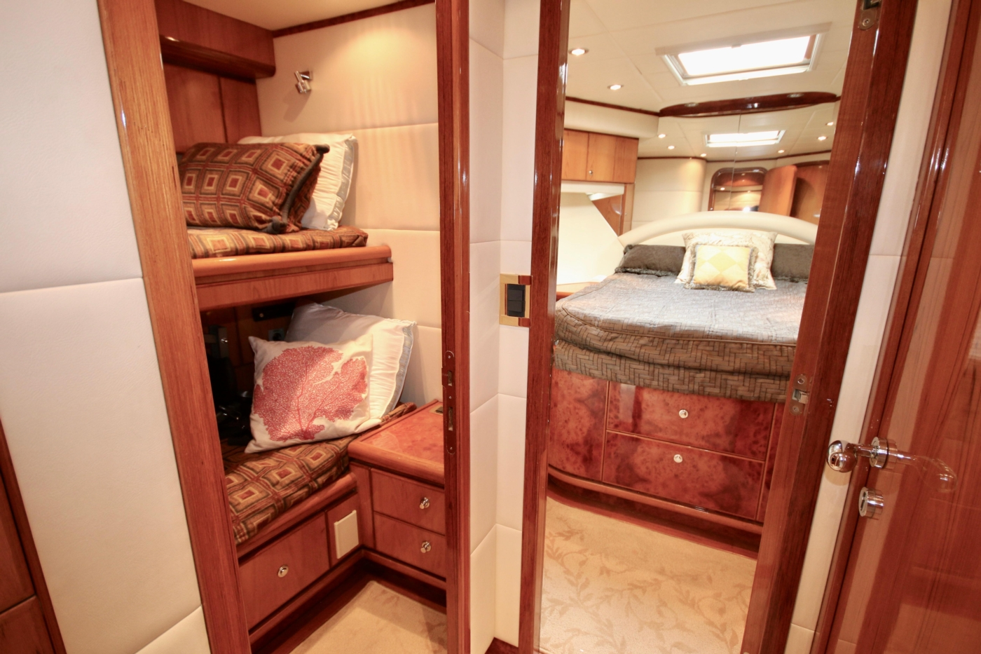 2002 Monte Fino 68, Entrance to 2 Guest Staterooms