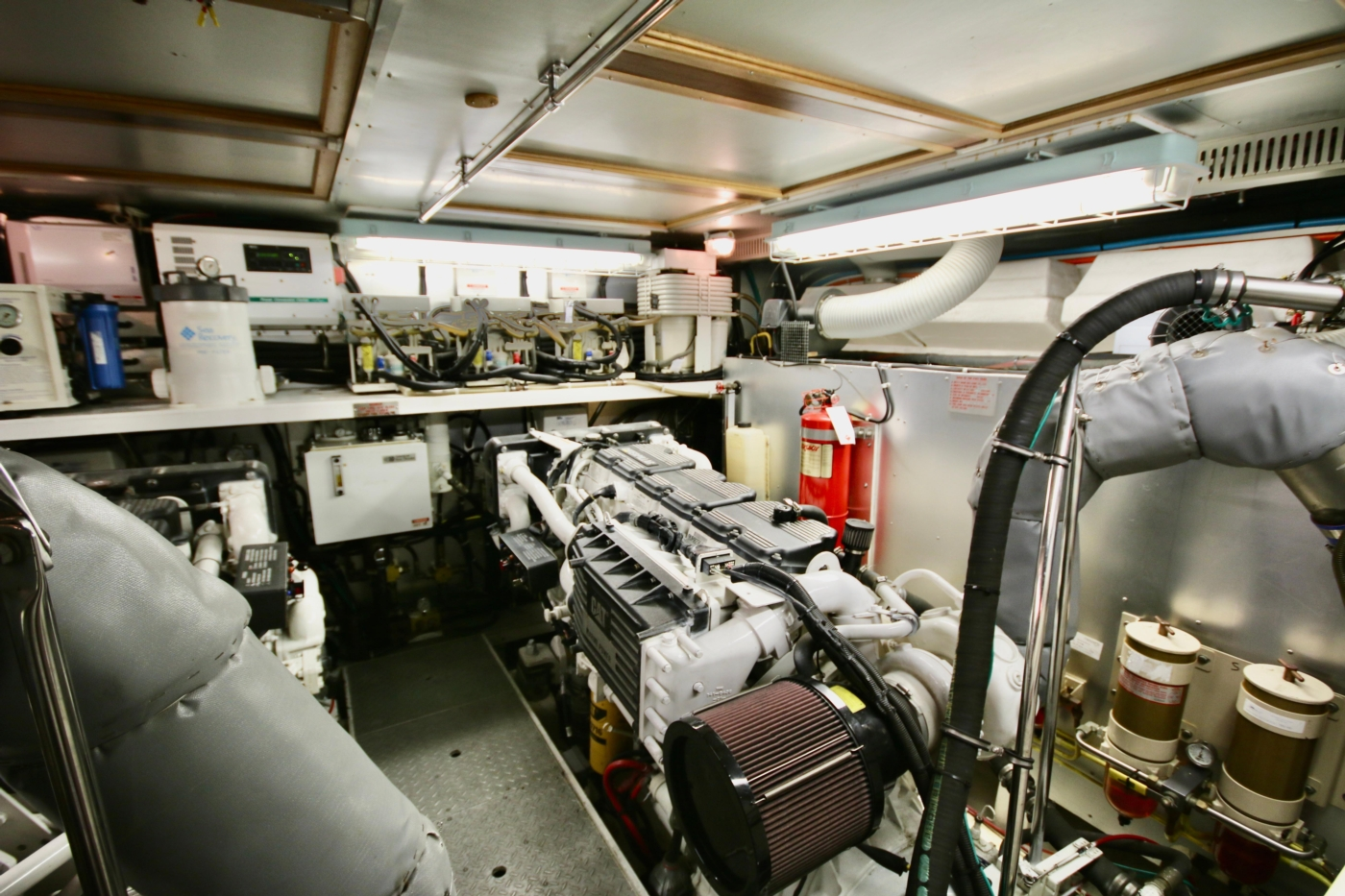 2002 Monte Fino 68, Engine Room Forward to Starboard