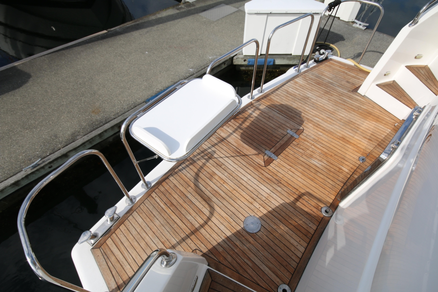 2002 Monte Fino 68, Swim Grid with Table Deployed