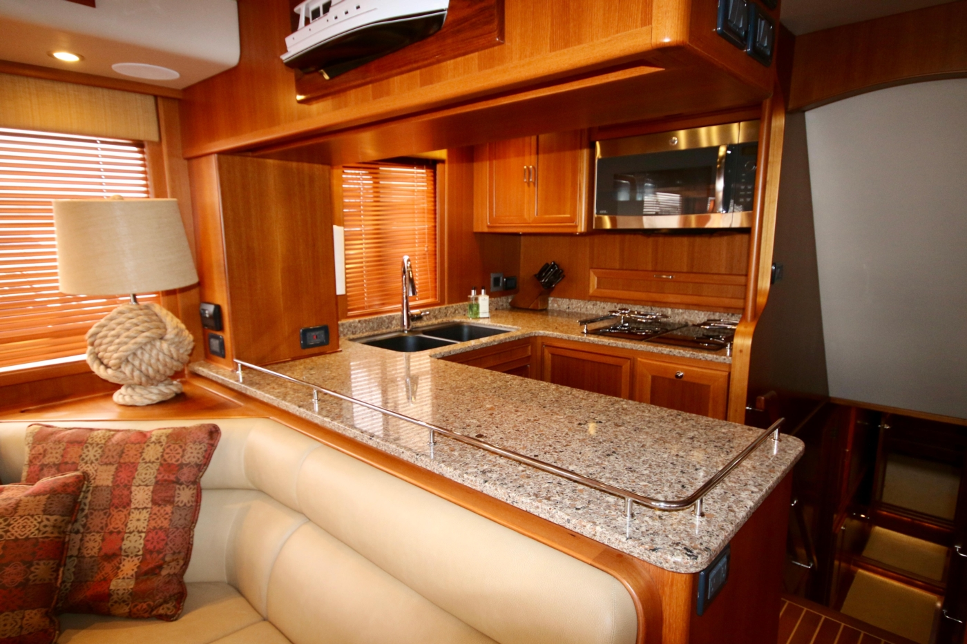 2015 Fleming 58 Pilothouse, Galley