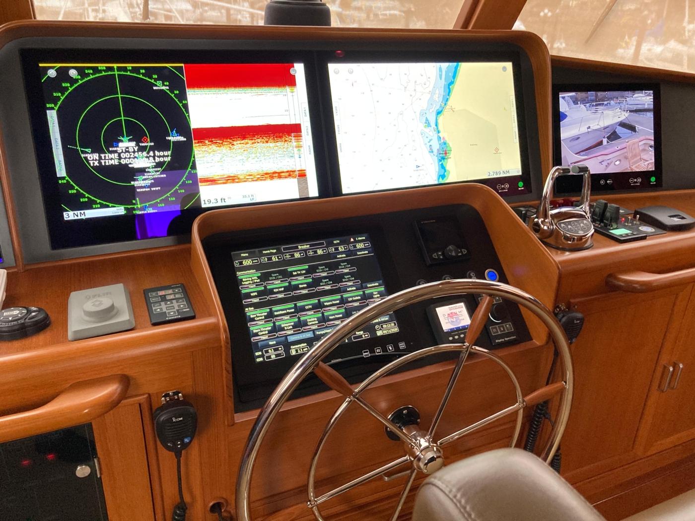 2015 Fleming 58 Pilothouse, Tough screens