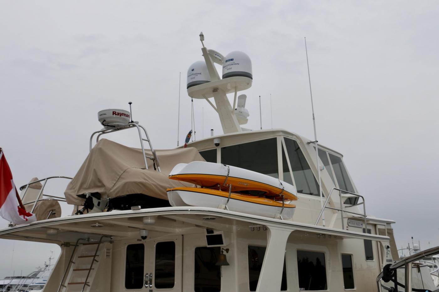 2015 Fleming 58 Pilothouse, Boat Deck