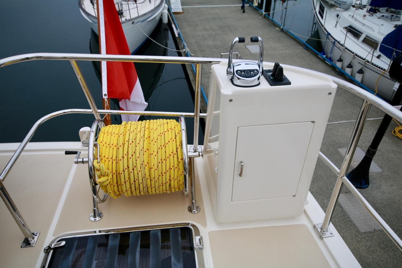 2015 Fleming 58 Pilothouse, Aft engine controls on boat deck