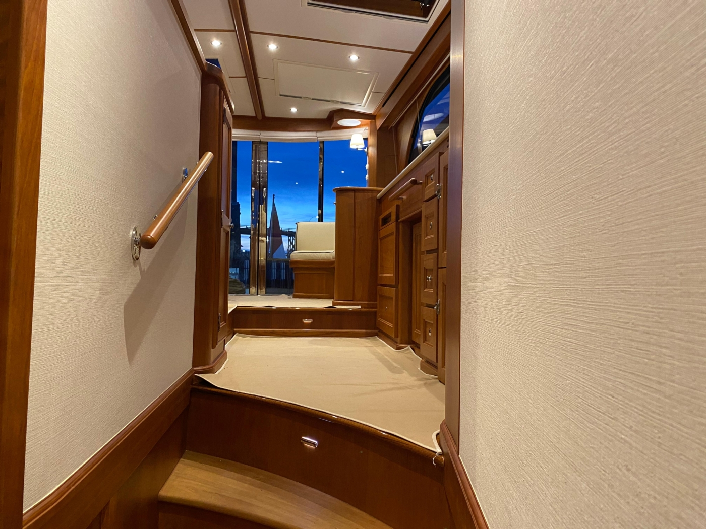 2018 Hinckley Talaria 48 MKII, View from accommodations hallway