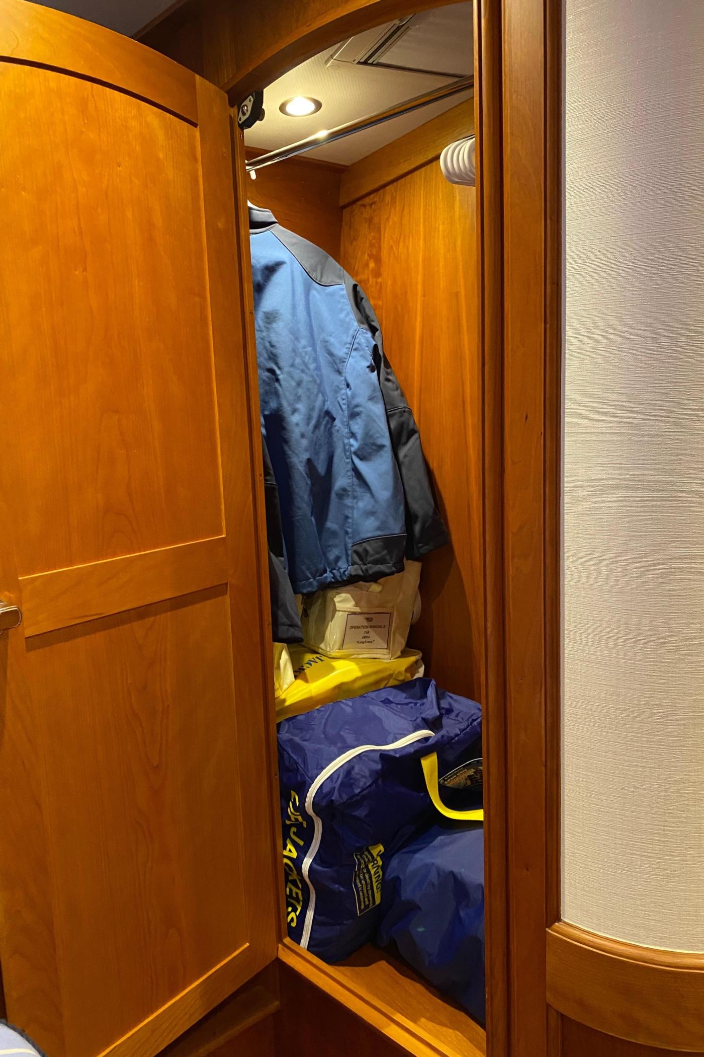 2018 Hinckley Talaria 48 MKII, Master cabin starboard locker