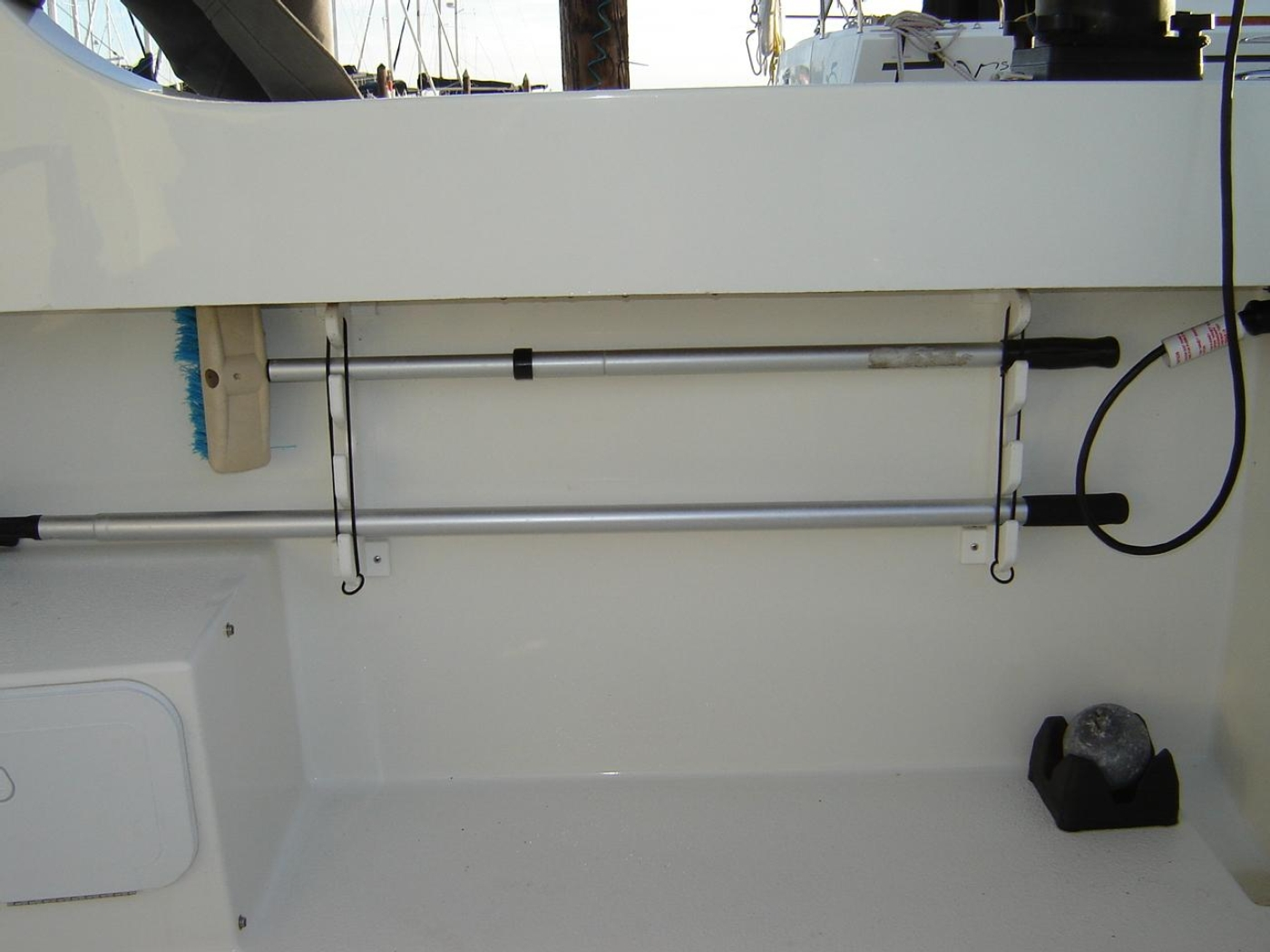 2019 Monaro 235 Sport, Rod Storage in Cockpit