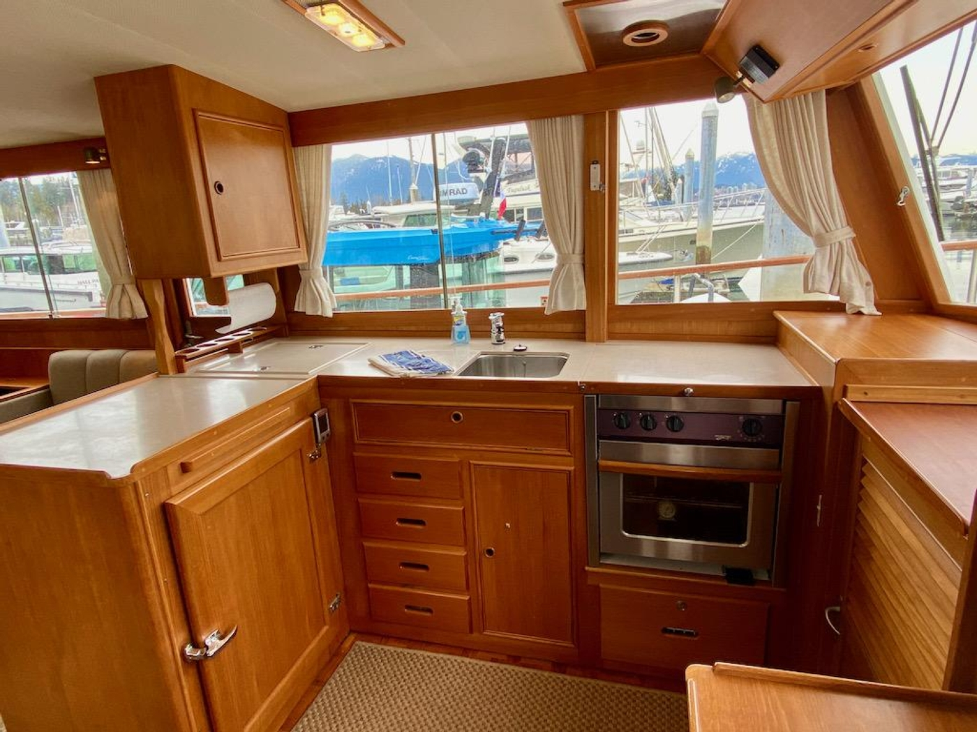 1998 Grand Banks 42 Classic, Galley 2