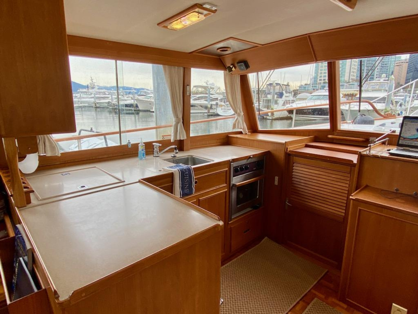 1998 Grand Banks 42 Classic, Galley 3