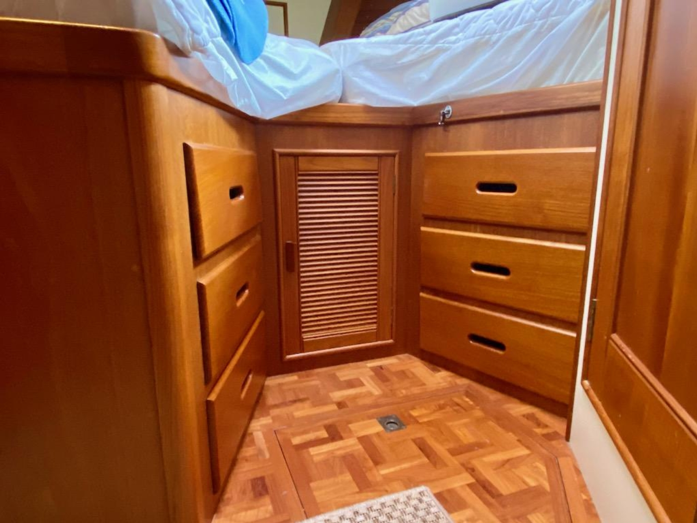 1998 Grand Banks 42 Classic, Fwd guest cabin storage 1