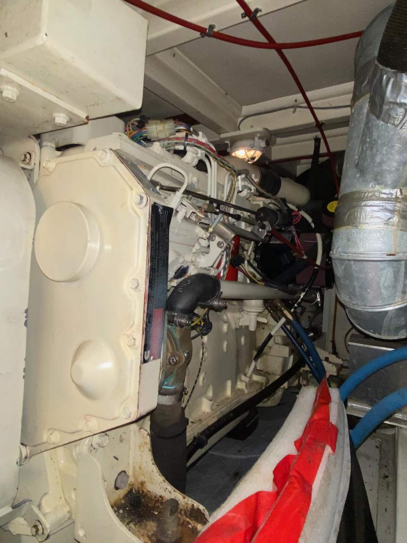 1998 Grand Banks 42 Classic, Port main outboard