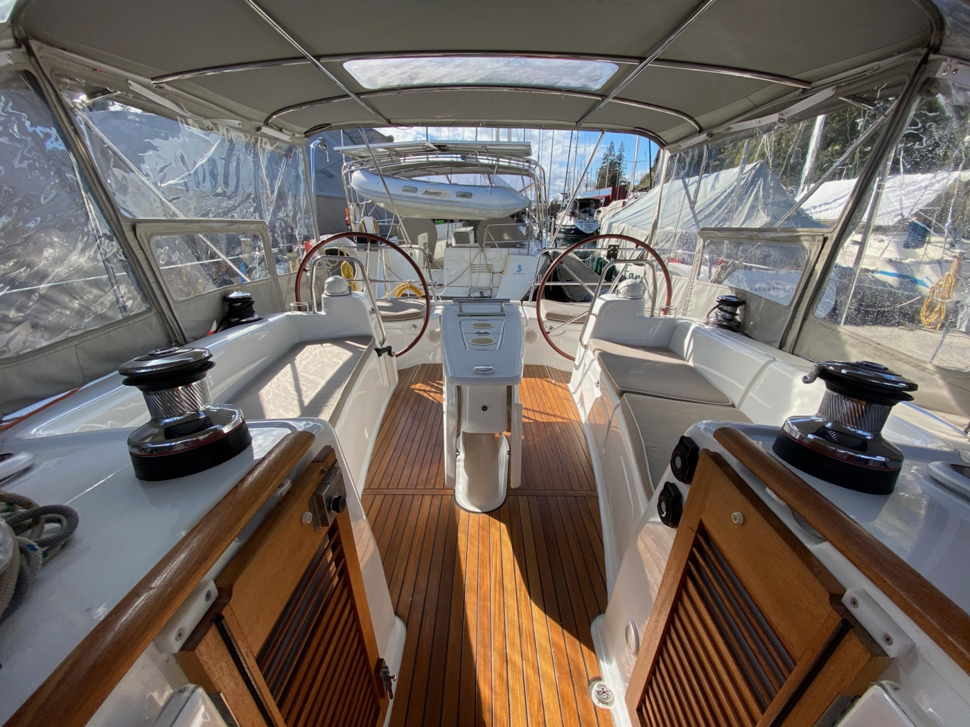 2010 Beneteau Oceanis 40, Cockpit Looking Aft
