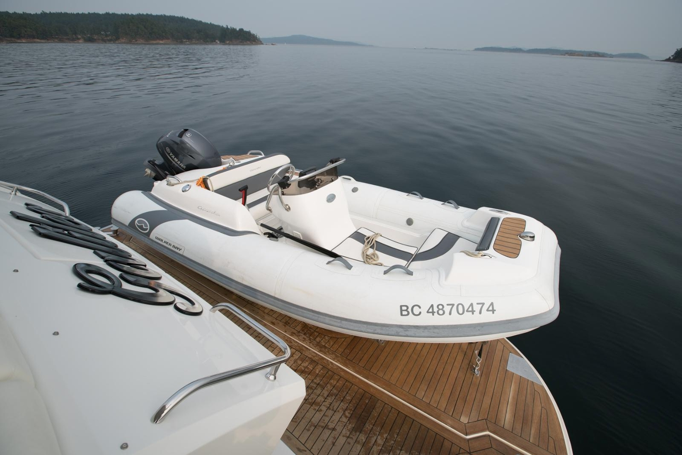 2006 Marquis Motor Yacht, Hydraulic swim platform