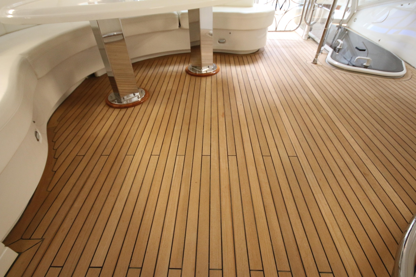 2006 Marquis Motor Yacht, Beautiful teak decks