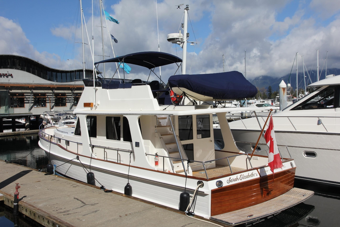 2009 Grand Banks 47 Europa, On the Pock Profile Aft