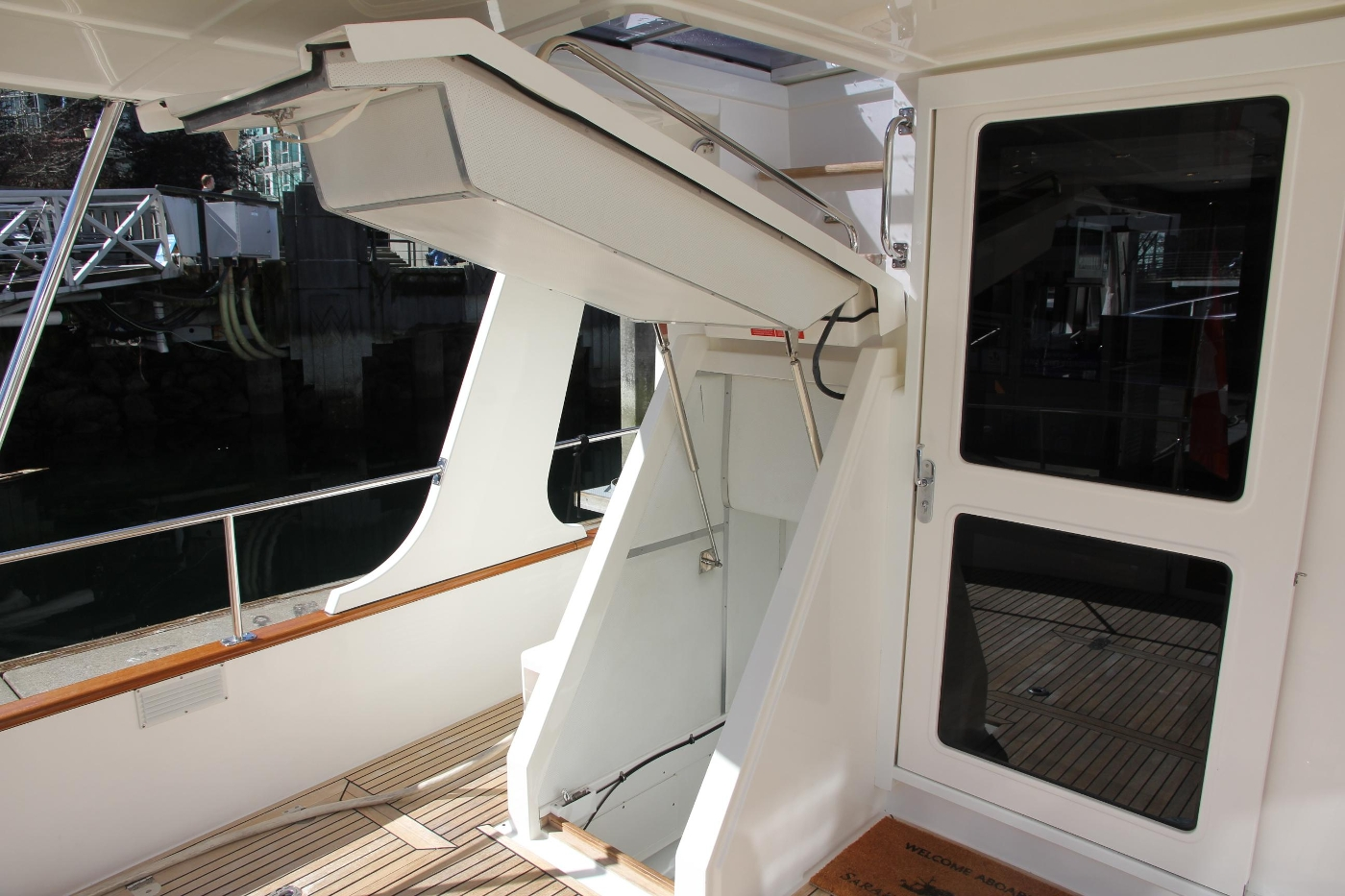 2009 Grand Banks 47 Europa, Engine Room Access