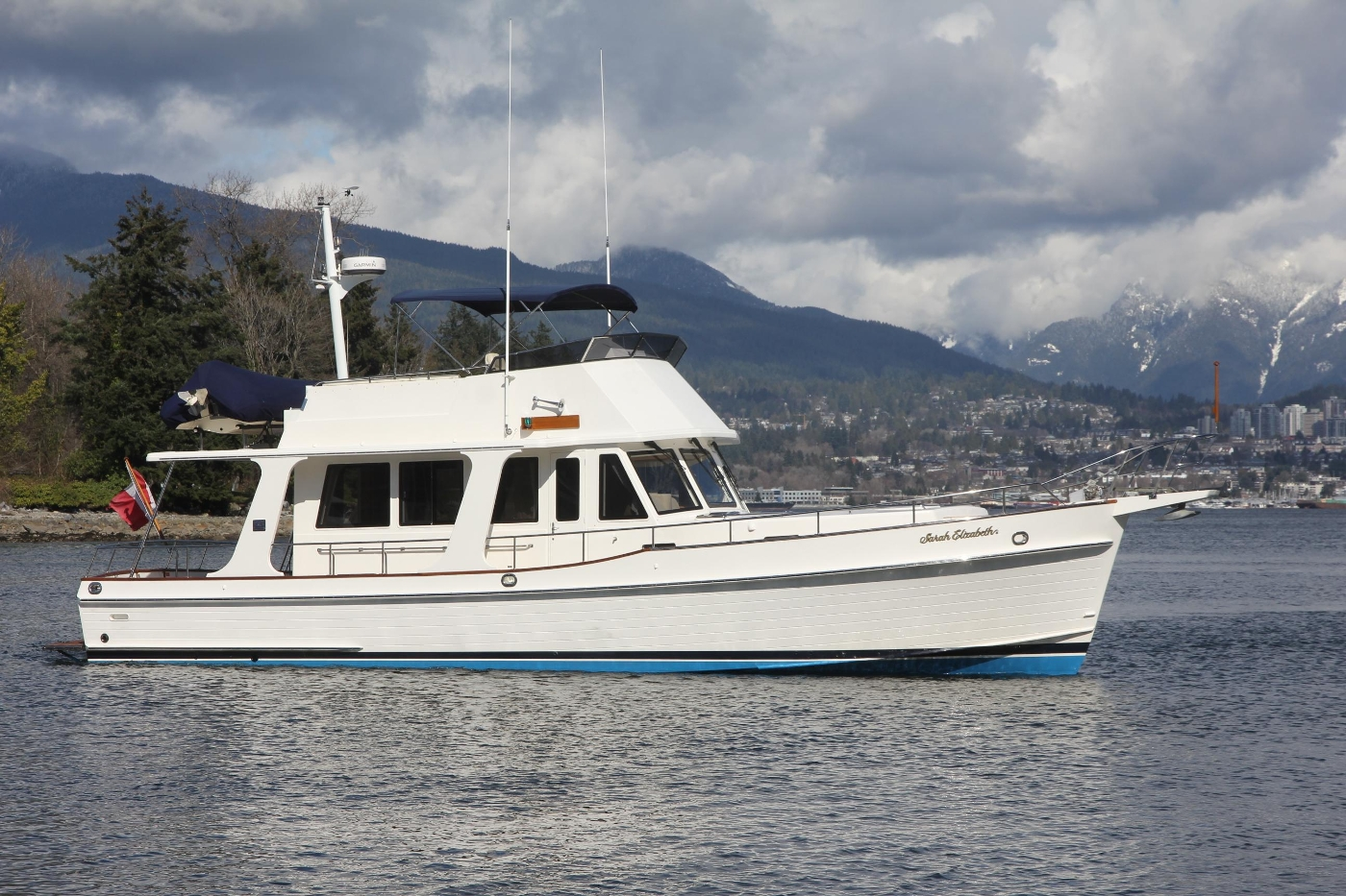 2009 Grand Banks 47 Europa, Profile Underway