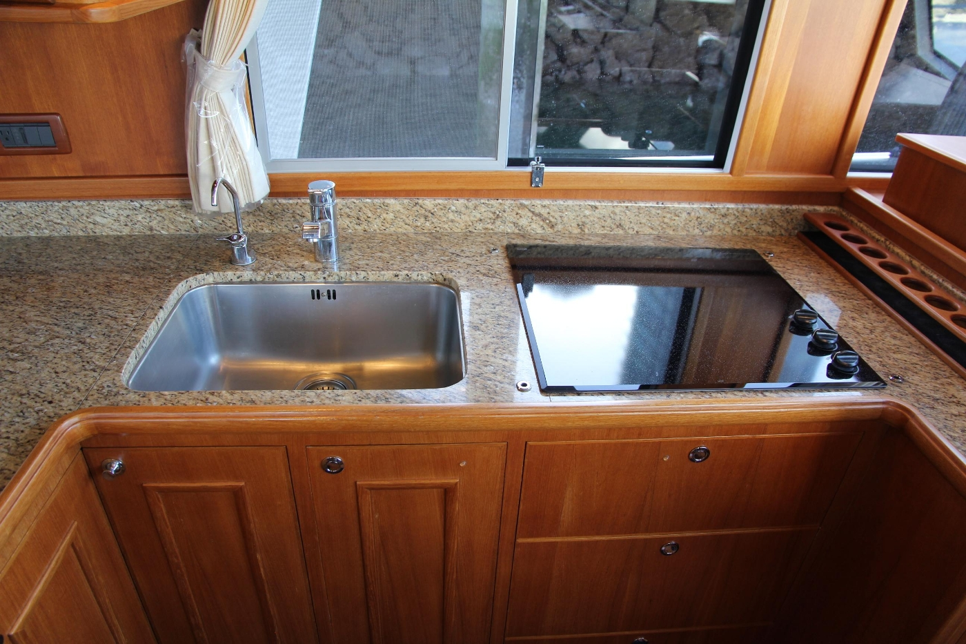 2009 Grand Banks 47 Europa, Stove and Sink