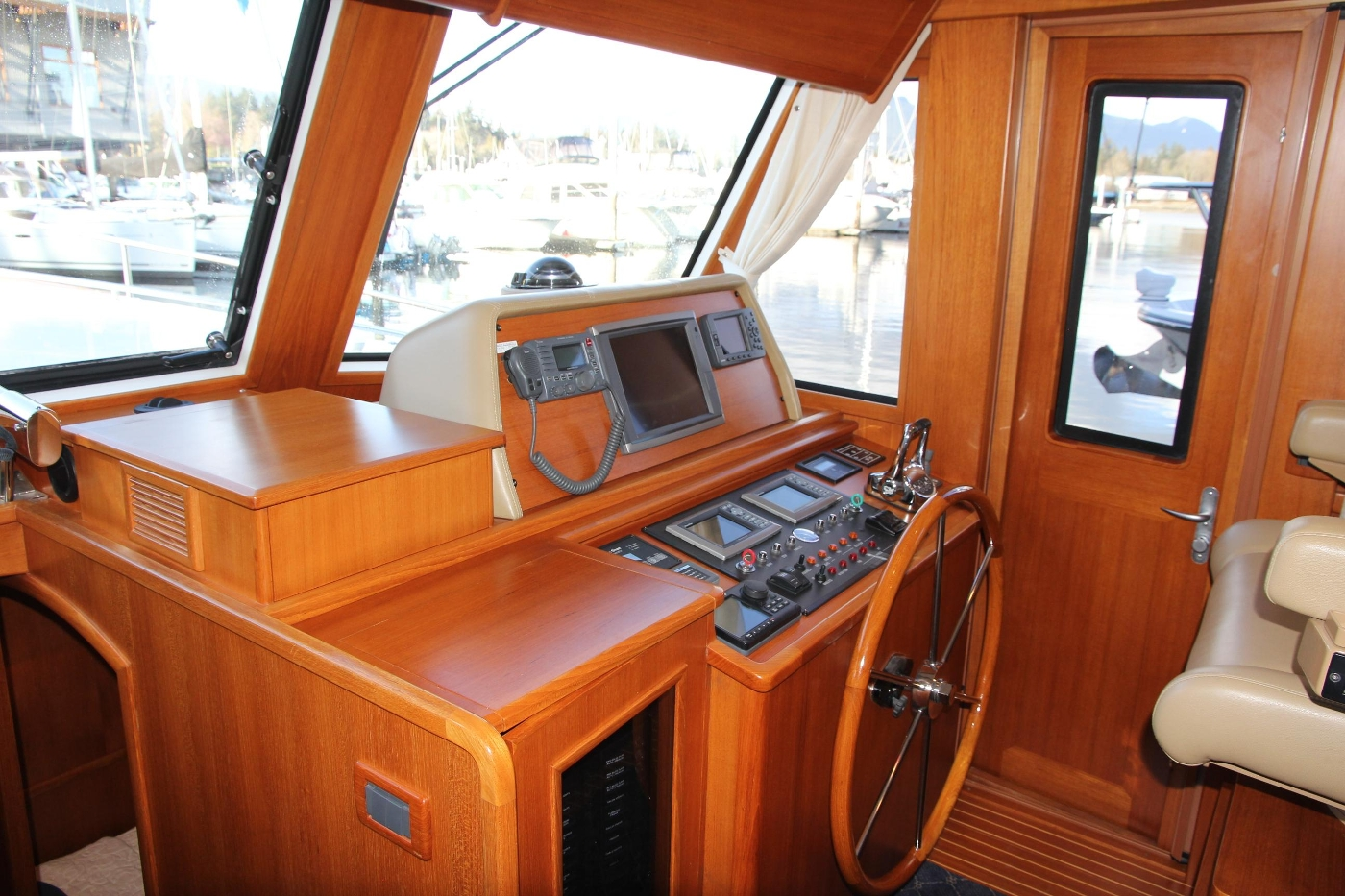 2009 Grand Banks 47 Europa, Helm from Galley