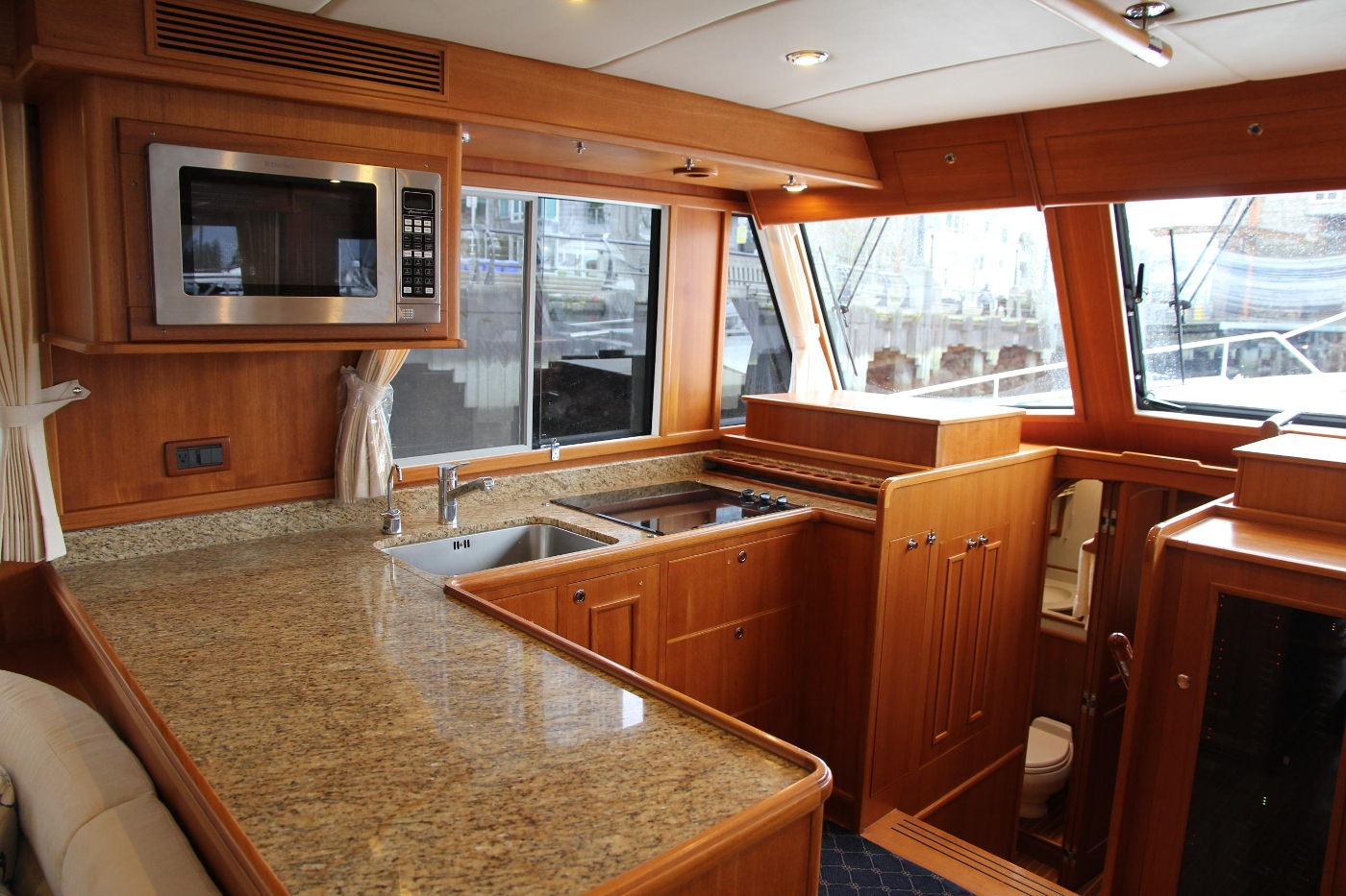 2009 Grand Banks 47 Europa, Galley from Salon